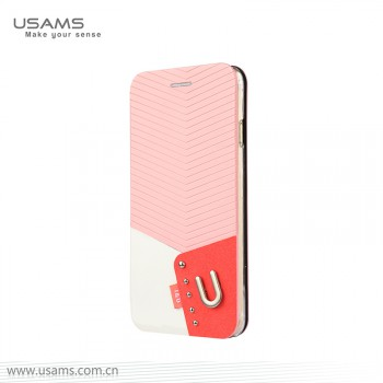 """USAMS® Coque Housse Protection Etui Cover Case Rose pour iPhone 6 """"IU Series"""" NEUF"""