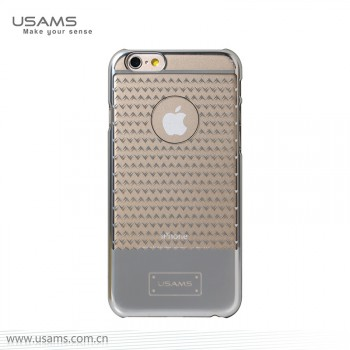 """USAMS® Coque Housse Protection Etui Cover Case Argent pour iPhone 6 Plus """"V-plating Series"""" NEUF"""