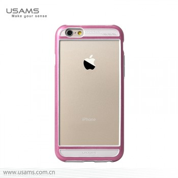"""USAMS® Coque Housse Protection Etui Cover Case Rose pour iPhone 6 """"Bescon Series"""" NEUF"""