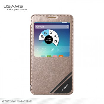 """USAMS® Coque Housse Protection Etui Cover Case Or Haut de gamme pour Galaxy Note 4 """"Viva Series"""" NEUF"""
