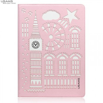 "USAMS® Coque Housse Protection Etui Cover Case Rose Haut de gamme pour iPad Mini 3 ""Tower Series"" NEUF"