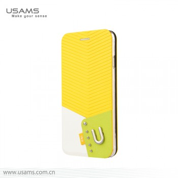 "USAMS® Coque Housse Protection Etui Cover Case Jaune pour iPhone 6 ""IU Series"" NEUF"