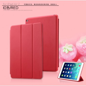 "USAMS® Coque Housse Protection Etui Cover Case Rouge pour iPad Air 2 ""Swing Series"" NEUF"