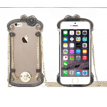 "USAMS® Coque Housse Protection Etui Cover Case Noir transparent pour iPhone 6 ""Miss Rococo Series"" NEUF"