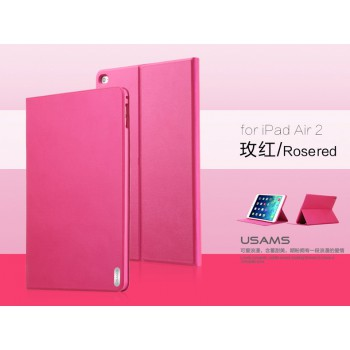 "USAMS® Coque Housse Protection Etui Cover Case Rose pour iPad Air 2 ""Geek Series"" NEUF"