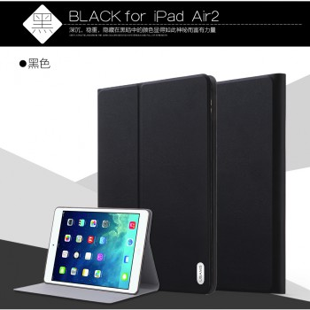 """USAMS® Coque Housse Protection Etui Cover Case Noir pour iPad Air 2 """"Victor Series"""" NEUF"""
