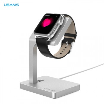 USAMS® Station de charge Charger dock Support Stand Haut de gamme pour Apple Watch 2015 Argent NEUF