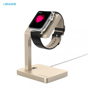 USAMS® Station de charge Charger dock Support Stand Haut de gamme pour Apple Watch 2015 Or NEUF