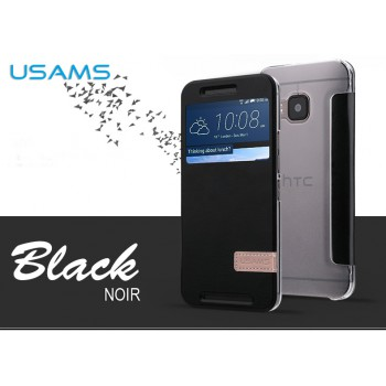 USAMS® ORIGINAL Housse de Protection Etui Case Cover NOIR pour HTC ONE M9 NEUF
