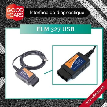 Interface de diagnostique Auto - ELM 327 - USB
