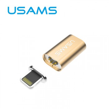 USAMS® Adaptateur USB Lightning/Micro USB Adapter Magnétique Magnetic Or Haut de gamme NEUF