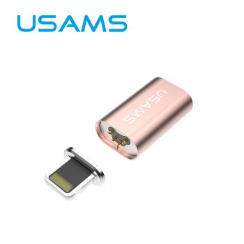 USAMS® Adaptateur USB Lightning/Micro USB Adapter Magnétique Magnetic Or rose Haut de gamme NEUF