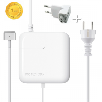 "Chargeur pour Macbook Air MagSafe 2 45W Adaptateur pour Macbook Air 11"", Macbook Air 13"" - A partir de Mi 2012 - Nec Plus Ultra®"