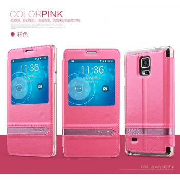 """USAMS® Coque Housse Protection Etui Cover Case Rose Haut de gamme pour Galaxy Note 4 """"Merry Series"""" NEUF"""