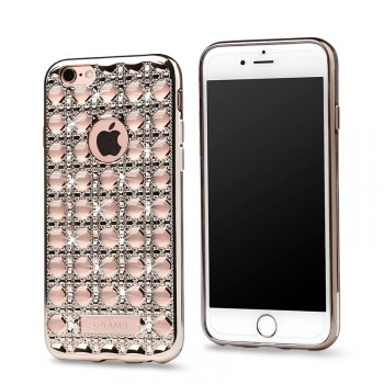 """USAMS® Coque Housse Protection Etui Cover Case Or clair Haut de gamme pour iPhone 6S """"Ross Series"""" NEUF"""