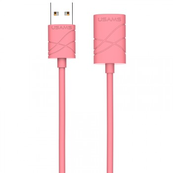 "USAMS® Cable d'Extension USB 2.0 Universel Rose Haut de gamme ""U-Gee Series"" NEUF"